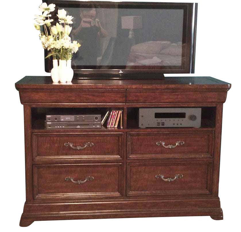 American Woodcrafters Signature Entertainment Furniture In Rich Dark Brown 8000 232