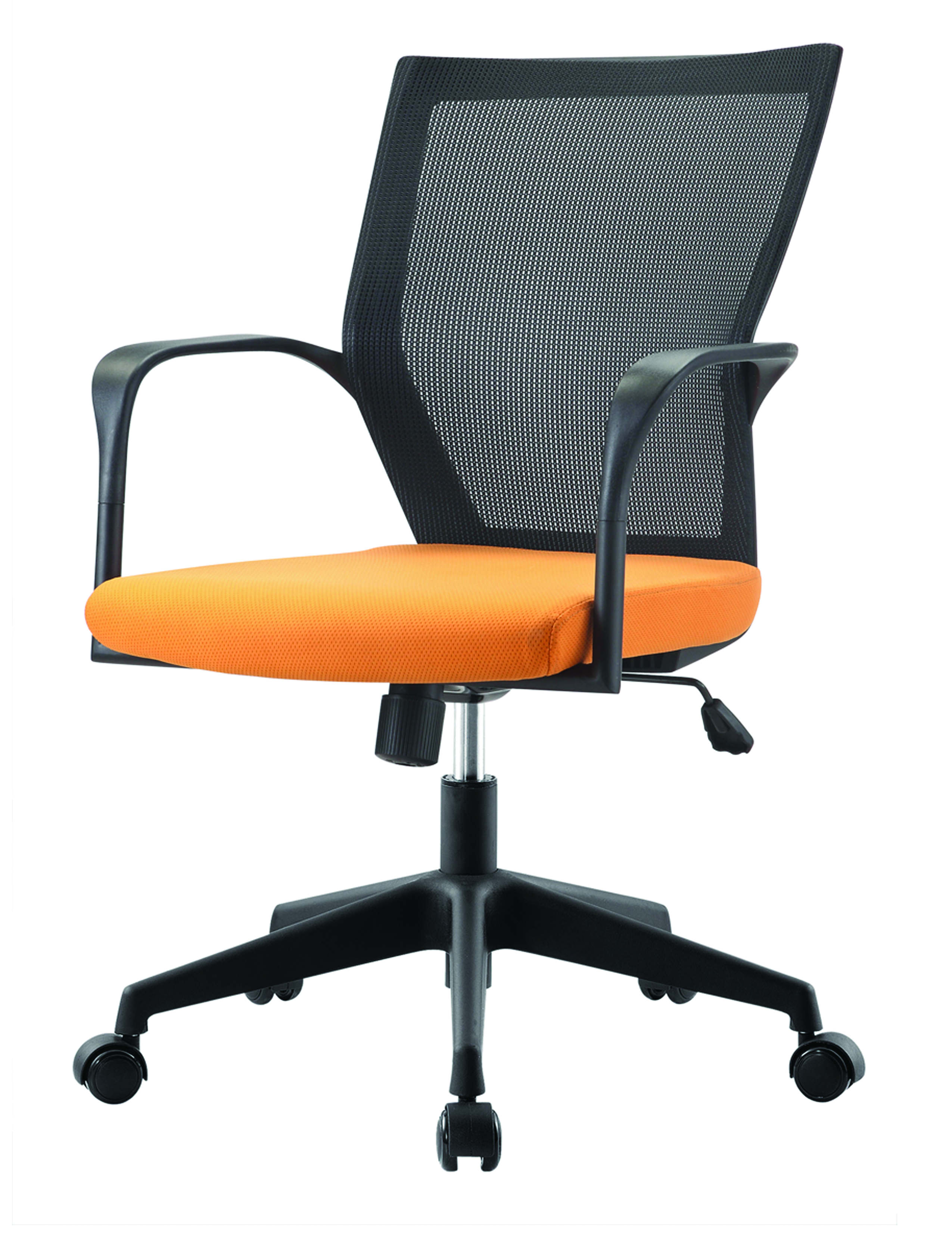 pastel furniture bozano office chair in orange upholstery bz 164 dn
