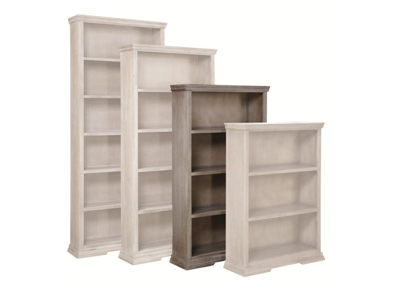 "Aspenhome Canyon Creek 60"" Open Bookcase in Driftwood WCK3460-DRF"