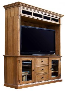 Universal Furniture Paula Deen Home Entertainment Console w/ Hutch in Oatmeal 192966 CODE:UNIV20 for 20% Off