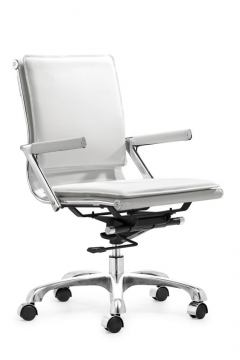 Zuo Modern Lider Plus Office Chair White 215214