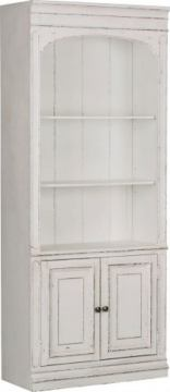 Liberty Magnolia Manor Bunching Bookcase in Antique White 244-HO201 EST SHIP TIME IS 4 WEEKS CODE:UNIV20 for 20% Off'