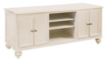 "Hammary Camden-Light 64"" Entertainment Center with Pedestal Feet in White 920-586"
