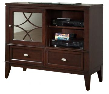 Homelegance Simpson TV Chest in Brown Cherry 2134-11