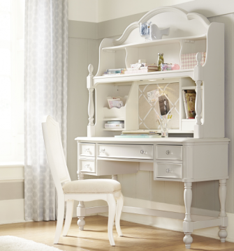 Legacy Classic Kids Harmony Desk with Hutch in Antique Linen White