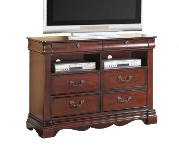 ACME Estrella TV Console with Four Drawers in Dark Cherry 20737