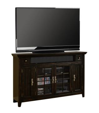 "Parker House Tahoe 62"" Tall TV Console in Vintage Black TAH#62TL"