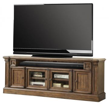 "Parker House Aria 79"" TV Console w/ Power Center in Smoked Pecan ARI#615"