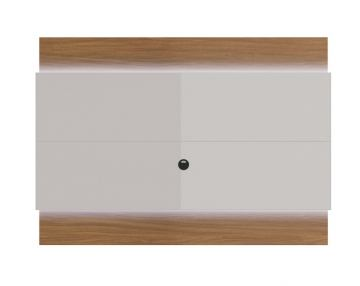 Manhattan Lincoln Floating Wall TV Panel 1.9 with LED Lights in Maple Cream and Off White 83954