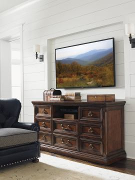 Lexington Coventry Hills Provincetown Media Console in Autumn Brown 945-907