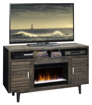 "Legends Furniture Avondale 61"" Fireplace Console in Charcoal AV5201.CHR"