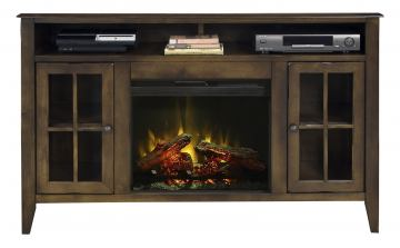"Legends Furniture Brownstone 60"" Fireplace Console in Bourbon BS5312.RBB"