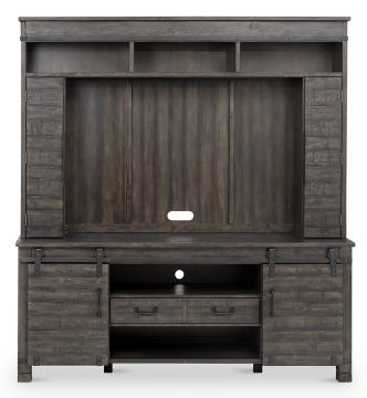 Magnussen Abington Entertainment Wall in Weathered Charcoal