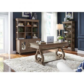 Liberty Simply Elegant 3pcs Office Funiture Set in Heathered Taupe EST SHIP TIME IS 4 WEEKS