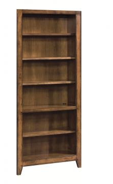 Aspenhome Cross Country Open Bookcase in Saddle Brown IMR-333