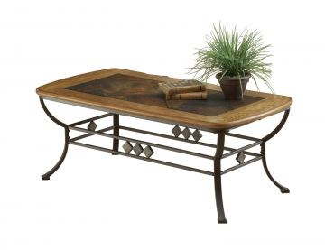 Hillsdale Lakeview Cocktail Table in Brown/Medium Oak 4264-883/882