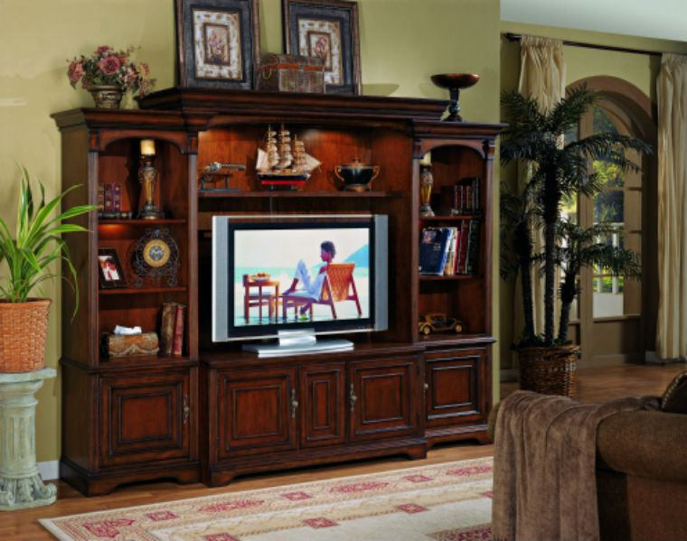 """Hooker Furniture Brookhaven Home Theater Group w/ 56"""" Console SALE Ends May 21"""