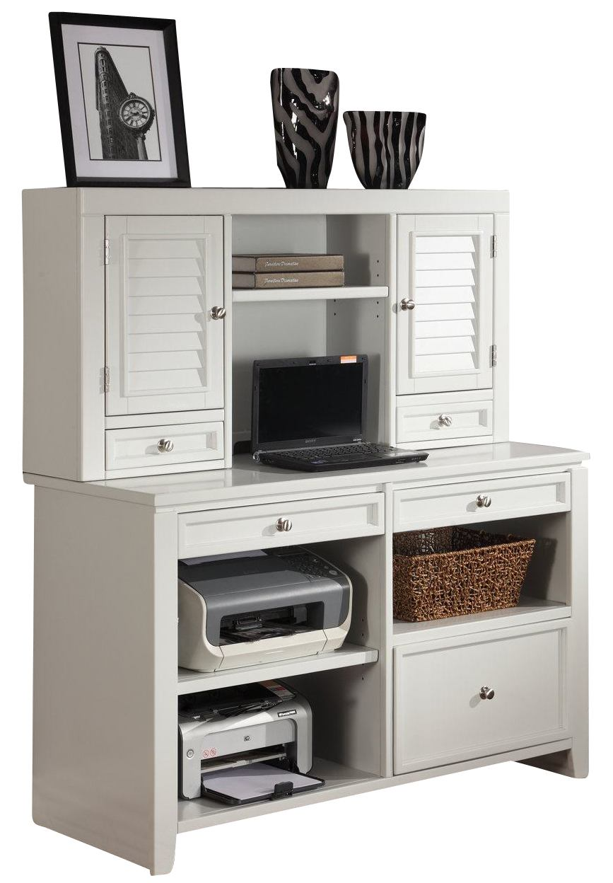 Parker House Boca Credenza and Hutch in Cottage White SPECIAL CODE:UNIV30 for 30% Off