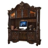 Acme Versailles Computer Desk w/ Hutch in Cherry 92284 EST SHIP TIME IS 4 WEEKS