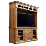 Universal Furniture Paula Deen Home Entertainment Console w/ Hutch in Oatmeal 192966