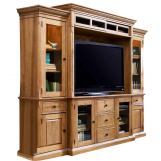 Universal Furniture Paula Deen Home Complete Home Entertainment Wall in Oatmeal 192966