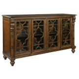 Hekman Vintage European Entertainment Console in Vintage Brown 2-7446