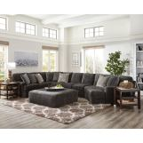 Jackson Furniture Mammoth 6pc Sectional Room Set in Smoke/Pepper 4376