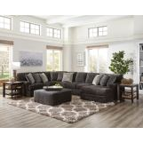 Jackson Furniture Mammoth 4pc Sectional Room Set in Smoke/Pepper 4376