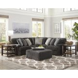 Jackson Furniture Mammoth 3pc Sectional Room Set in Smoke/Pepper 4376