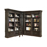 Parker House Grand Manor Palazzo 4Pc Corner Museum Bookcase in Burnished Black CODE:UNIV20 for 20% off