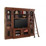 "Parker House Leonardo Spacesaver 60"" Entertainment Wall with Ladder in Dark Chestnut CLEARANCE"