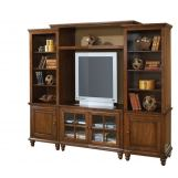 Hillsdale Grand Bay Small Entertainment Unit in Distressed Pine