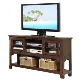 "ECI Furniture Gettysburg 58"" Entertainment Center in Dark Distressed 1475-05-ET58"