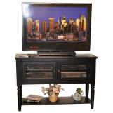 "ECI Furniture Nantucket 48"" Entertainment Cart in Black 1866-10-TVC48"
