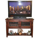 "ECI Furniture Williamsburg 48"" Entertainment Cart in Rustic Mahogany 3068-48-TVC48"
