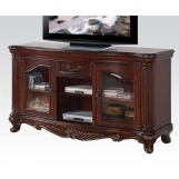 Acme Remington TV Stand in Brown Cherry 20278 EST SHIP TIME IS 4 WEEKS