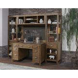 Parker House Brooklyn 5 Piece Wall Desk Set in Antique Burnished Pine CODE:UNIV20 for 20% off
