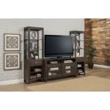 "Parker House Brooklyn 60"" TV Console with Pair of Piers in Antique Burnished Pine BRO#60-3 CODE:UNIV20 for 20% off"