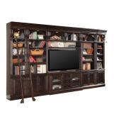 "Parker House Venezia Library 60"" Inset Entertainment Wall in Burnished Black CODE:UNIV20 for 20% off"