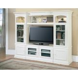"Parker House Hartford 48-72"" Expandable Entertainment Wall in Vintage White"