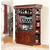 Parker House Wellington Bar Base & Hutch in Brown Mahogany