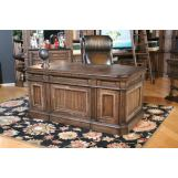 Parker House Aria Double Pedestal Executive Desk in Smoked Pecan ARI#480-3 CODE:UNIV20 for 20% off