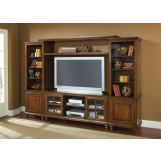 Hillsdale Grand Bay Large Entertainment Unit in Distressed Pine