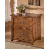 Cross Island Lateral File Cabinet in Medium Brown Oak Stain