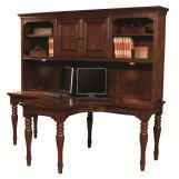 Aspenhome E2 Class Villager Dual T-Desk Hutch in Warm Cherry I20-380H APPX DELIVERY IN 12 WEEKS