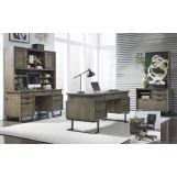 "Aspenhome Harper Point 4pc Office Set w/ 66"" Executive Desk in Fossil"