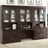 Parker House Stanford Library Wall Unit w/ Lateral File & Desk
