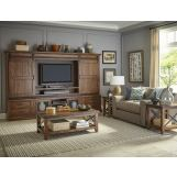Intercon Furniture Taos 4-Piece Wall Entertainment Set in Canyon Brown