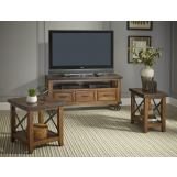 Intercon Furniture Taos 3-Piece TV Console Set in Canyon Brown