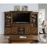 Legends Furniture Barclay Entertainment Wall in Rustic Acacia